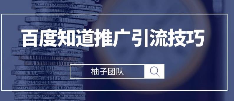 """021最新百度知道推广引流技巧,分分钟就能学会【视频课程】"""""""